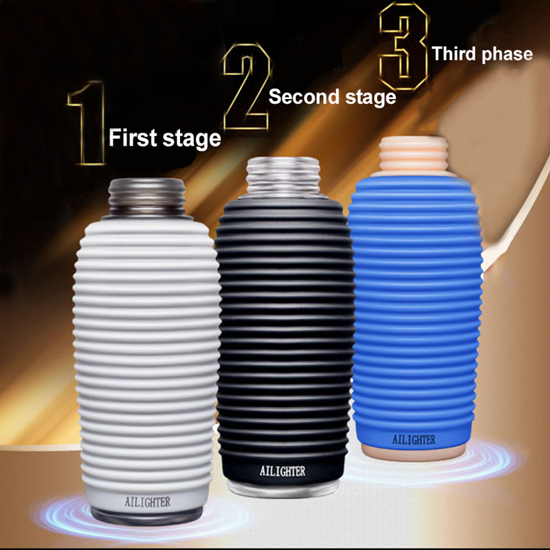 Sex Shop Dual channel Male Masturbation Cup Penis Stimulate Glans Massager Exercise Delay Ejaculation Vaginal Sex Toys for Men in Masturbators from Beauty Health