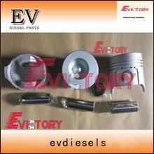 Motor Yanmar reconstruir 3TNE78 3TN78 3D78 3TNA78 pistão + conjunto de anéis de pistão forro do cilindro kit de vedação completa