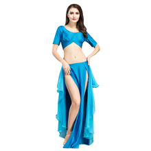 Women Performance Belly Dance Costume Waves Slit Skirt Dress Carnival Bellydance Christmas Party Dancing Wear Clothes