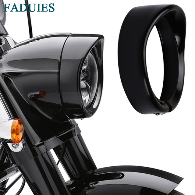 """FADUIES Motorcycle accessories 7"""" Daymaker Headlight Balck 7 in. Visor Style Headlamp Trim Ring For Harley Motorcycle Touring"""