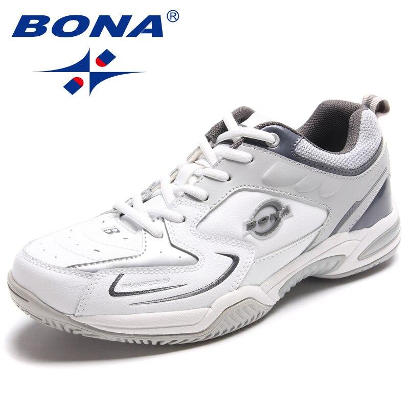 BONA Nouveau Style Hommes Chaussures De Tennis À Lacets Hommes Chaussures Jogging en Plein Air Baskets Confortable Hommes Chaussures de Sport Rapide Livraison Gratuite