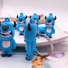 Fashion Cute Q Version Monsters Inc Monsters University Mike Wazowski Sully Key chain Action Figure Model Toys Dolls Key Ring