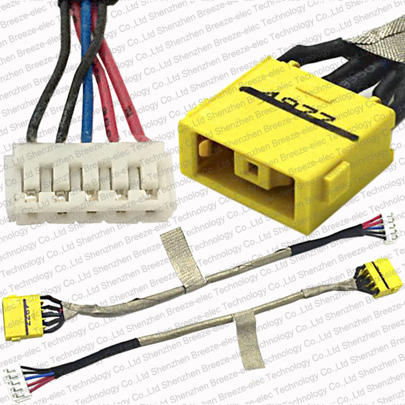 Free Shipping 100% Genuine New Laptop DC Power Jack Socket Connector and Cable harness for Lenovo Z710 5938 Essential G700 5939 samzhe hdmi to dvi cable 2m 3m 5m hdmi male to dvi male 18 1 pin cable adapter support 1080p for hdtv projectors pc
