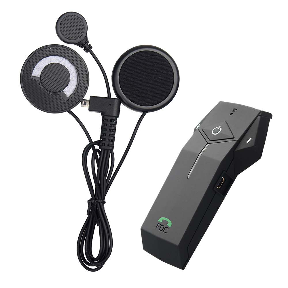 1 pc Motorcycle Helmet Headset 1000M Bluetooth Intercom NFC FM Radio Function with Soft Microphone for Integral Helmet