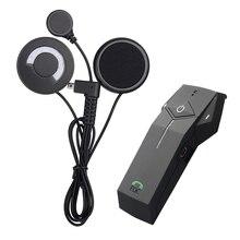 1 pc Motorcycle Helmet Headset 1000M Bluetooth Intercom NFC FM Radio Function with Soft Microphone for Integral Helmet