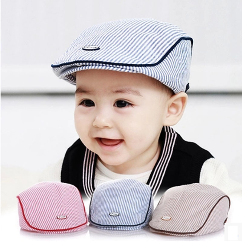 78abae8d1 US $9.09 30% OFF|0 2 years Fashion spring baby beret hat kids sonbonnet  pink blue coffee 3 colors H 011-in Hats & Caps from Mother & Kids on ...
