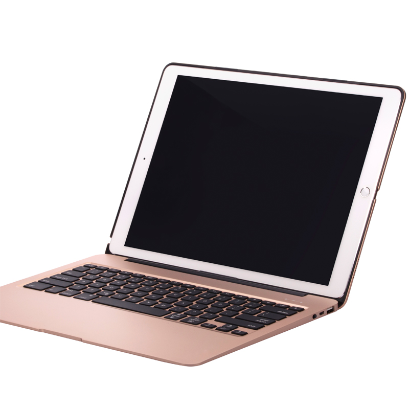 Ultra-thin Aluminum Alloy Metal Wireless Bluetooth Keyboard Case For iPad Pro 12.9 With 7 Colors Backlight Protective ShellUltra-thin Aluminum Alloy Metal Wireless Bluetooth Keyboard Case For iPad Pro 12.9 With 7 Colors Backlight Protective Shell