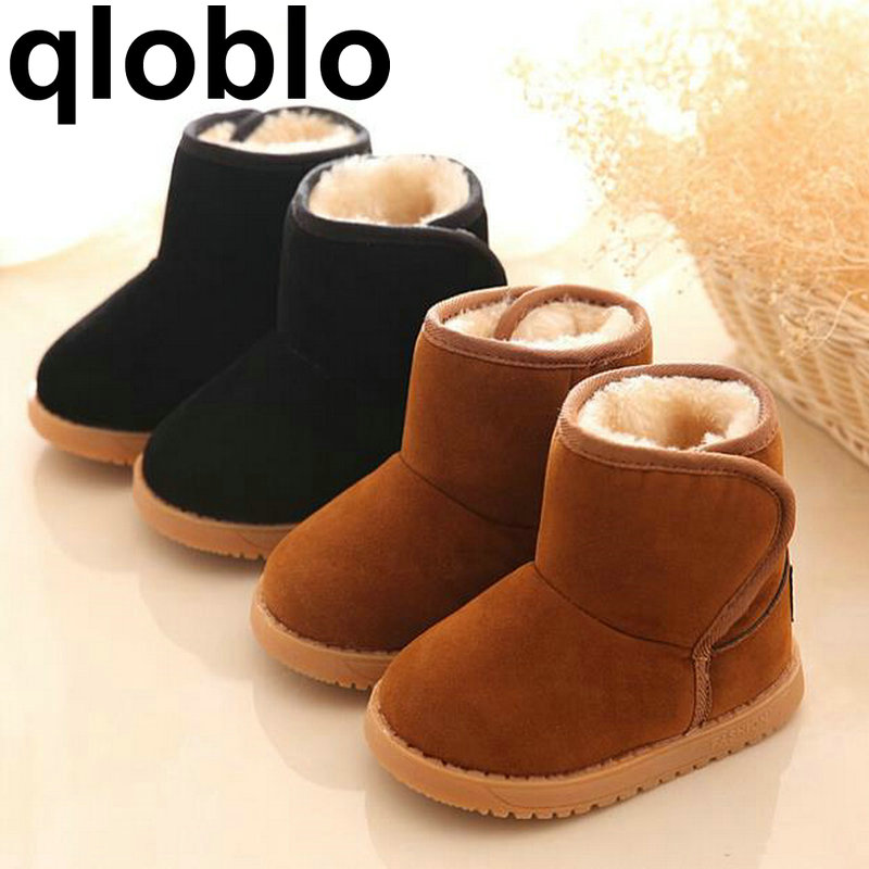 Baby Childrens Shoes Boots Winter Plush Warm Snow Boots Baby Girls Boys Snow Kids Ankle Cotton Shoes ...