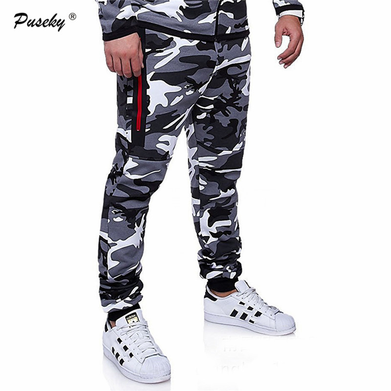 Loose Elastic Waist Comfortable Cargo Trousers 2018 Mens Jogger Autumn full Pants Men Camouflage Military Pants Camo Joggers