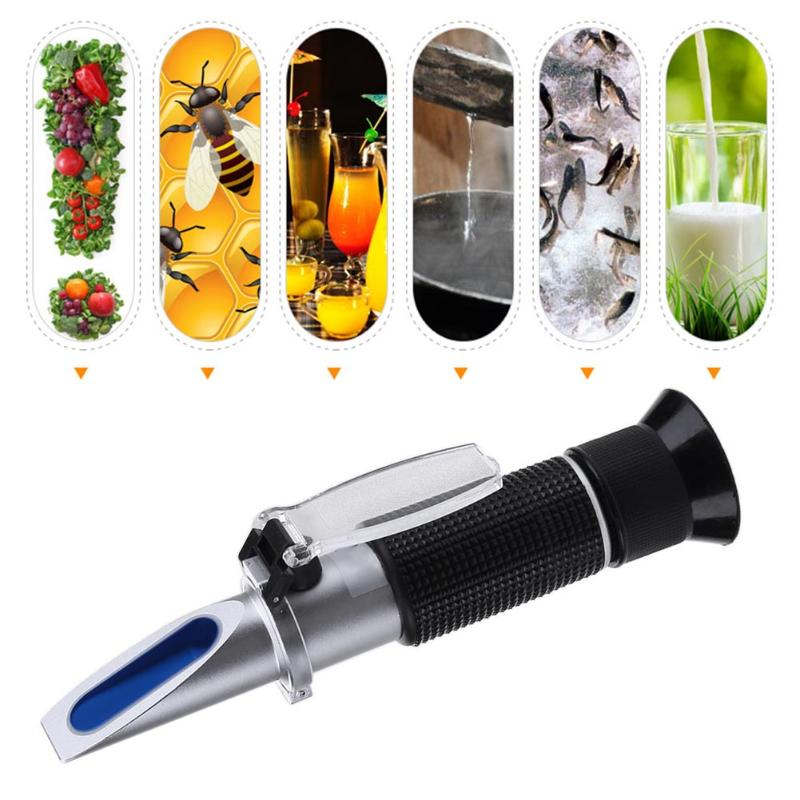 0-28% Handheld Salinity Refractometer Salinometer Digital Food Salinity Meter Tester Tool for Salt Water in Brine Prepared Food tds digital salinity tester meter for salt water pool