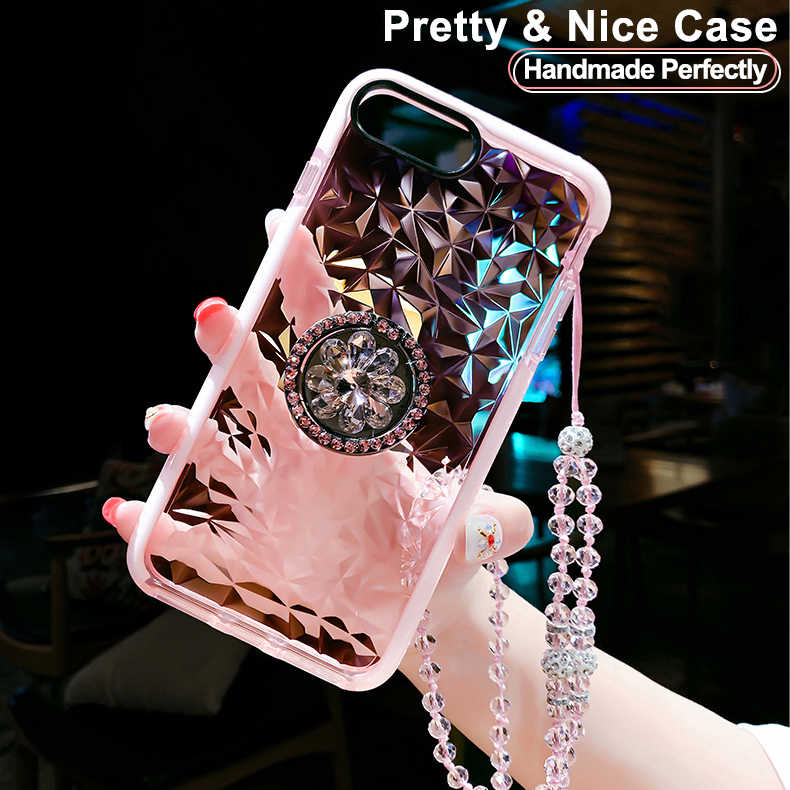 Handmade Perfectly Ring Holder Phone Case For iPhone X XR XS Max Shockproof Clear Cover For iPhone 7 8 6 6s Plus 5 5S SE Case