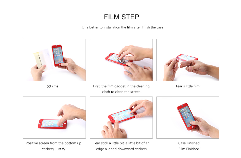 FLOVEME Luxury 360 Full Case For iPhone 7 7 Plus Glass Film Phone Accessories For iPhone 6 6S Plus Xiaomi Mi 6 Huawe P 10 Covers (17)