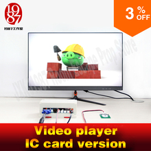 Room escape gadget video player prop put IC card in card reader to get the video