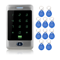 8000users Touch Waterproof RFID Access Control Metal keypad+10 RFID Key Fobs for Door Access Control System Electric door locks