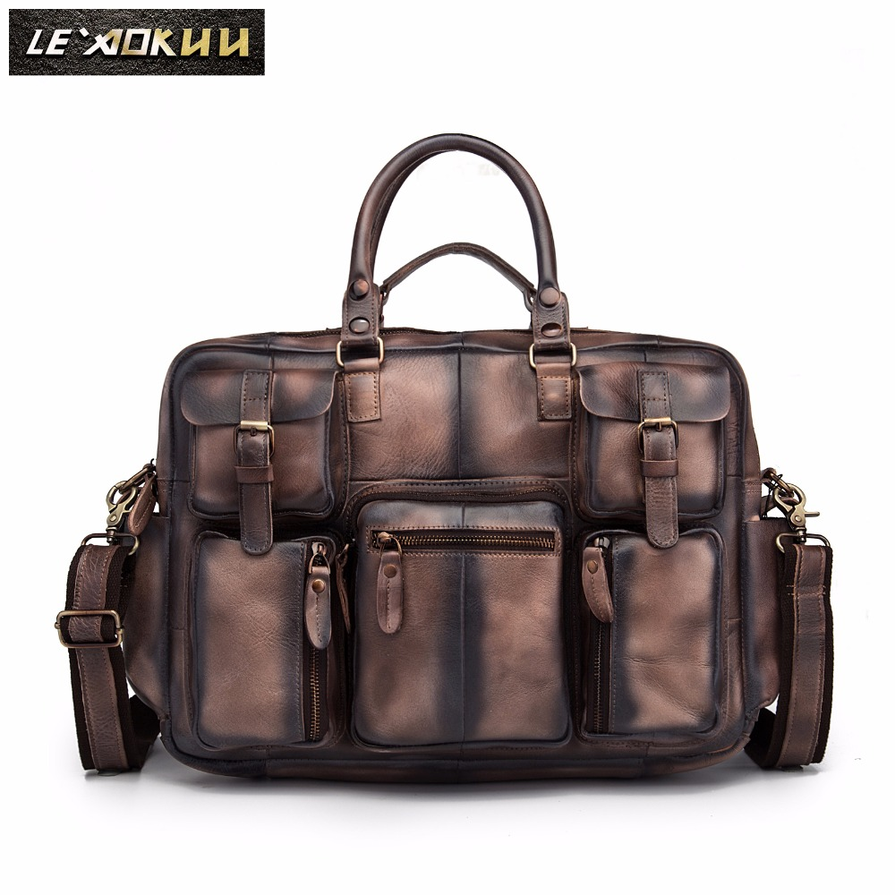 Luggage & Bags Considerate Quality Leather Men Fashion Handbag Business Briefcase Commercia Document Laptop Case Design Male Attache Portfolio Bag 3061db