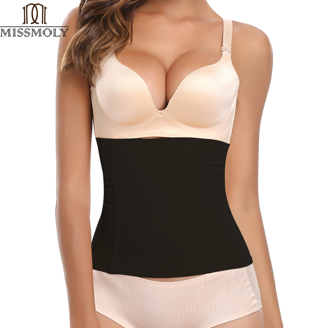 be814658d9 Womens No Closure Waist Corset Cincher Boned Tummy Control Waist Girdle  Seamless