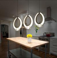 Free Shipping LED Dining Room Chandelier Living Room Bedroom Lamp Modern Simple Head Three Bar Lamp