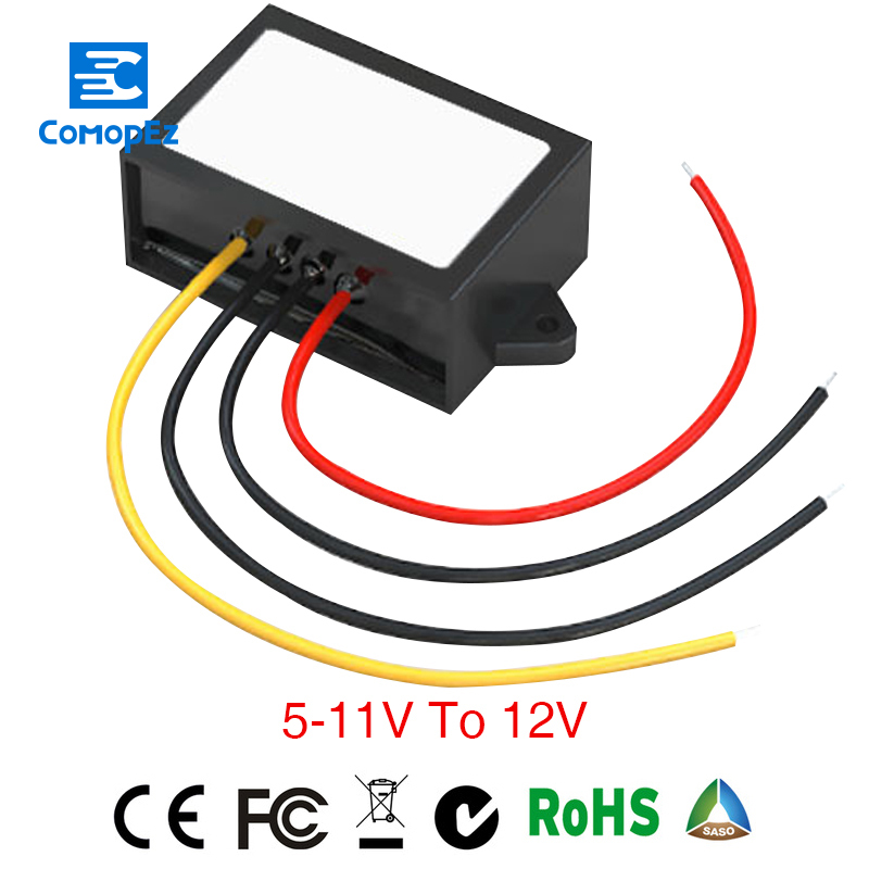 Power Supply <font><b>Converter</b></font> <font><b>DC</b></font>/<font><b>DC</b></font> Step-up <font><b>5V</b></font>(5-11V) to <font><b>12V</b></font> <font><b>4A</b></font> Waterproof Control Car Module Low Heat Auto Protection Size 58*40*22mm image