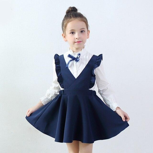 365a1b4371 US $15.49 21% OFF|Baby Girl Dress 2017 new fashion Summer School style  Children Sleeveles Fresh Cute sweet Kid Princess Strap dress 3 4 6 8 10  12Y-in ...