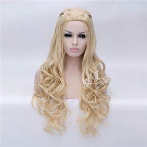 Image 2 - Daenerys Targaryen Cosplay Wig Dragon Mother Long Wavy Blonde Hair Wigs Halloween Party Costume Wig