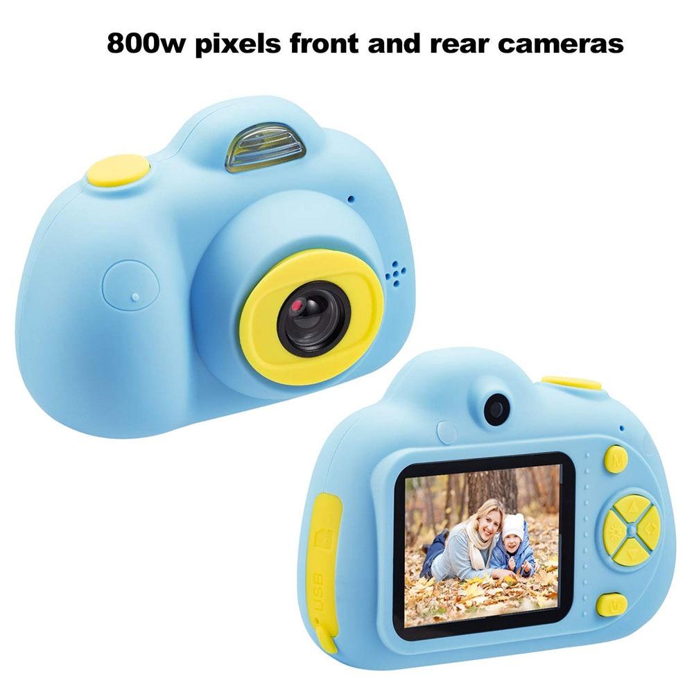 Enfant jouet caméra Support TF carte 2 pouces enfants passer appareil photo numérique enfant photographie mode petit reflex rose bleu 1080 p - 6