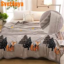 Svetanya Cartoon Print Blanket warm Sheet(China)
