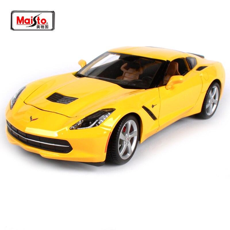 Maisto 1:18 2014 Chvrolet Corvette Stingray Sports Car Diecast Model Car Toy New In Box Free Shipping 31182 игрушка jada 2009 corvette stingray concept 84210 1