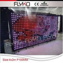 Бесплатная доставка P100 2×4 м телепередачи мягкий гибкий светодиодный дисплей занавеса