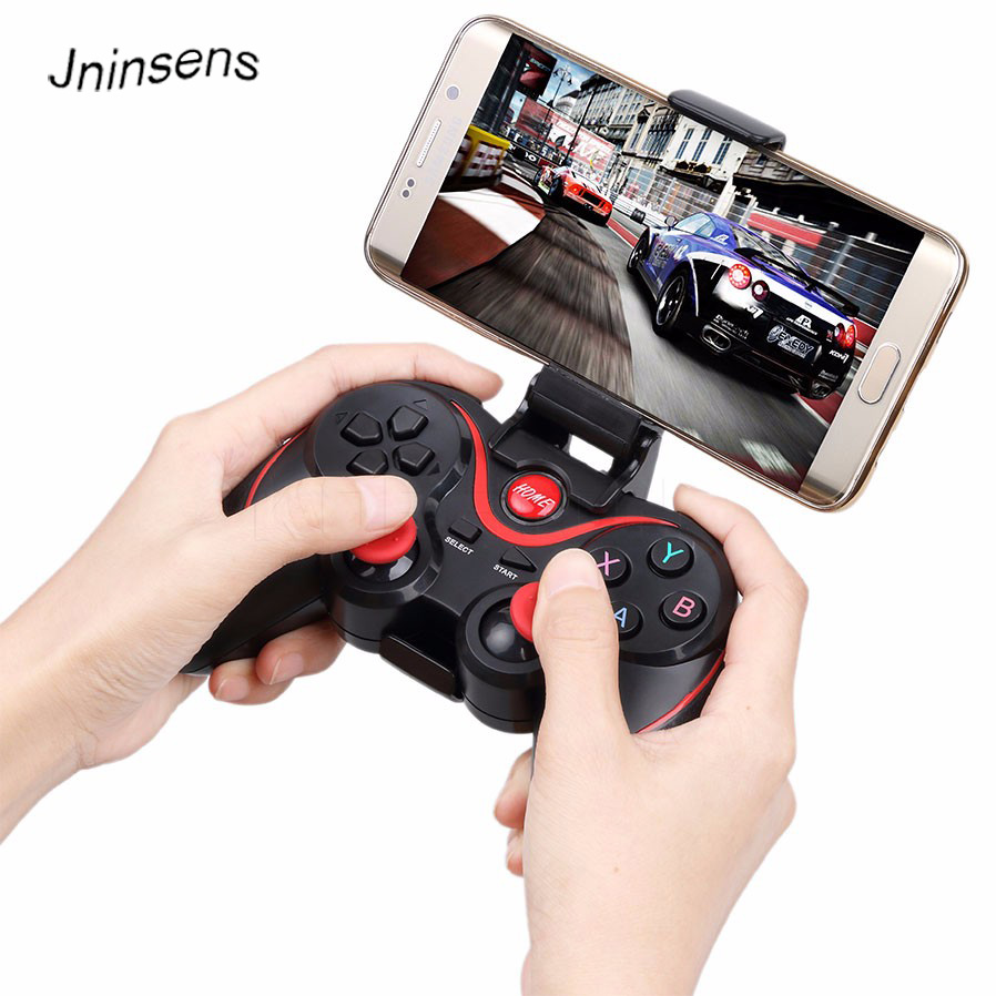 Jninsens updated t3 Gamepad Joystick Wireless Bluetooth 3.0 Android Gamepad Gaming Remote Control for phone PC Tablet TV Box