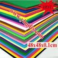 24 ШТ./LOT.1mm пены Eva листов, листов Ремесла, школьные проекты, легко режется, Пробить лист, Ручной material.48x48x0.1cm. 24 цвета.