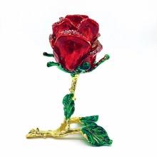 QIFU société nouvelle arrivée décor à la maison rose cabochon de mariage décoration en métal ornement bijoux boîte rose cabochon pour la décoration intérieure(China (Mainland))