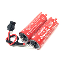 цена на New Original Maxell ER17/50 3.6V 5500mah Robot Battery lithium plc batteries pack with black connector