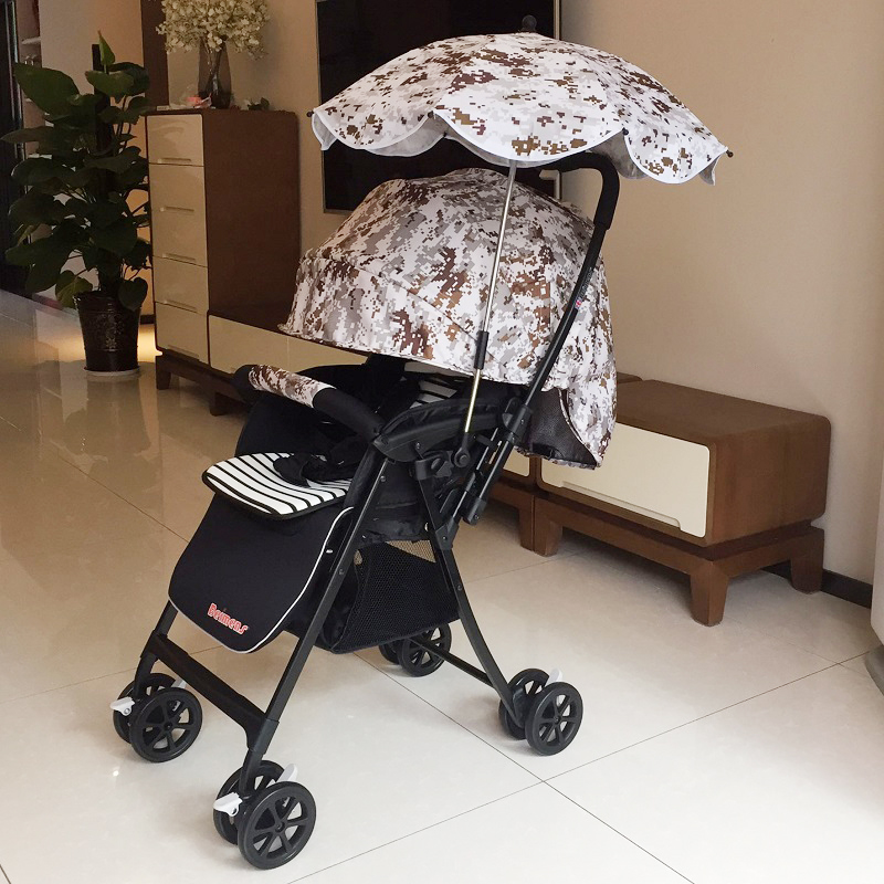 Bei Meng Shi baby stroller high landscape can sit four rounds of light folding two-way baby winter summer children's trolley high landscape suspension stroller four wheel two way light folding sit lie baby cart