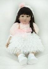 Reborn baby 22 inch 55 cm Silicone  dolls, lifelike doll reborn babies toys Beautiful princess dress