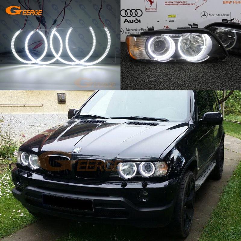 Pour BMW E53 X5 2000 2001 2002 2003 Excellent Ultra éclairage lumineux smd led Ange Yeux Halo Anneau kit DRL