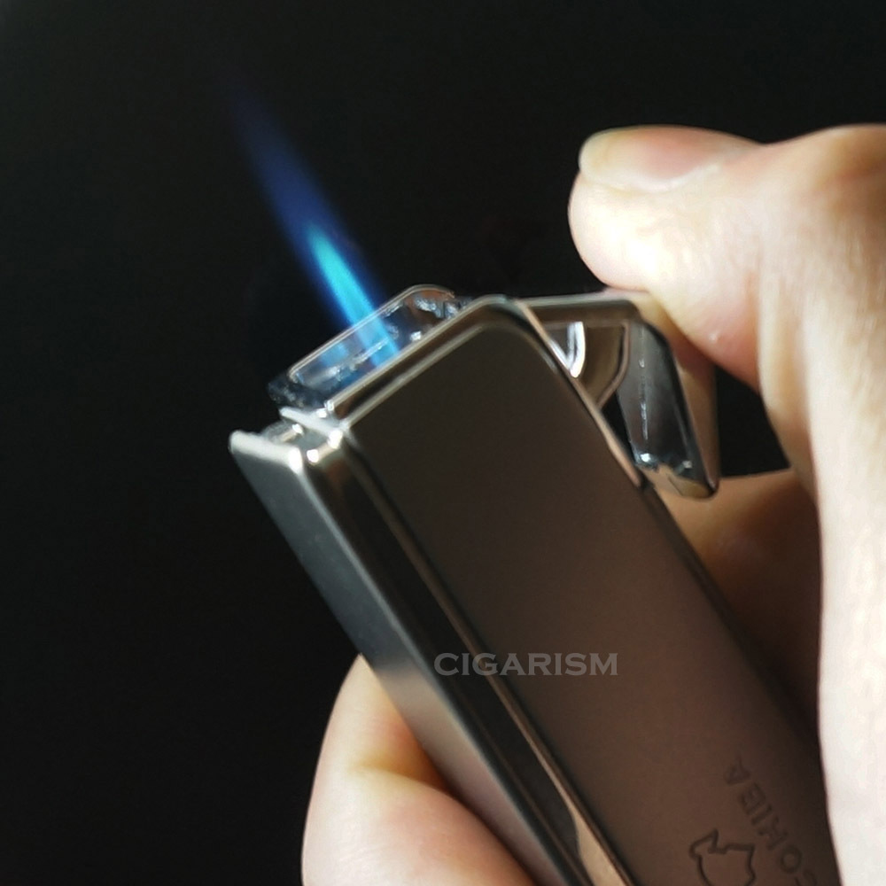 COHIBA Metal Jet Flame Cigar Lighter W/Cutter Scissor
