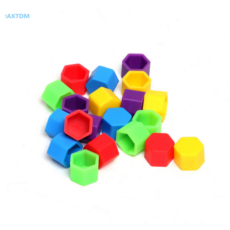20pcs New Universal 19mm Silicone Hexagonsal Wheel Lug Nut Bolt Cover Protective Tyre Valve Screw Cap Antirust Nut Cap Bolt Rims