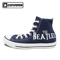 The Beatles Abbey Road Converse Shoes For Men Women Hand Painted Blue Canvas Sneaker