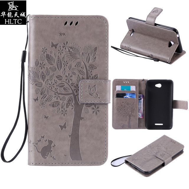 Wallet Magnet Flip Cover Leather Case For Sony Xperia E4 case For Sony Xperia E4 Dual E2115 E2105 E 4 Coque 3D Pattern