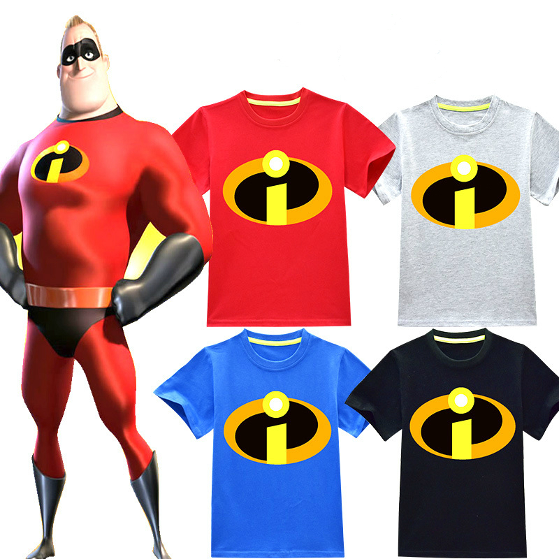 2018 Baby Girls Clothes Comfortable Summer T <font><b>Shirts</b></font> The Incredibles <font><b>2</b></font> Pattern Tops Boys T-<font><b>shirt</b></font> Kids Clothing image