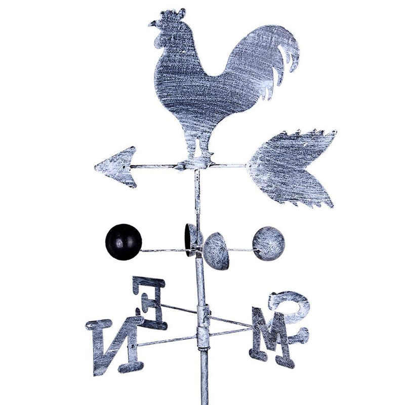 Traditional Rooster Weathervanes Iron Cock Wind Vane Wind Speed Direction Indicator Garden Yard Veleta BDF99