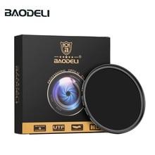 Baodeli 중립 밀도 filtro nd1000 64 8 concept 49mm 52mm 55 58 62 67mm 72 77mm 82mm canon nikon sony 카메라 렌즈 필터