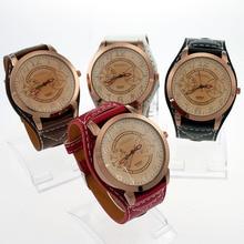 Новые опт смешанные 4 шт цветной ремешок негабаритных Леди Мужчины из искусственной кожи кварцевые наручные часы подарок U2M Мужские Женские часы студенческие