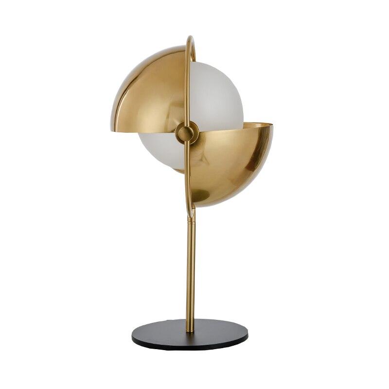 Lampe de bureau Postmodern est une lampe de couchette de scène contemporaine et contractée lampe décorative en métal doré
