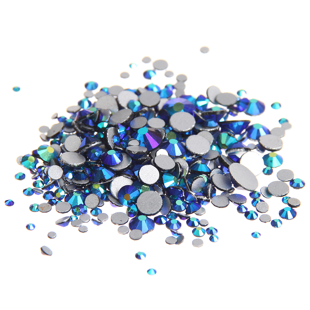 Glass Gems Crystal Rhinestones For Nails ss3-ss30 And Mixed Jet AB Non Hotfix Strass 3D Nail Art Jewelry Nails Design Decoration glass gems crystal rhinestones for nails ss3 ss30 and mixed light rose ab strass nail art jewelry design glitter decoration