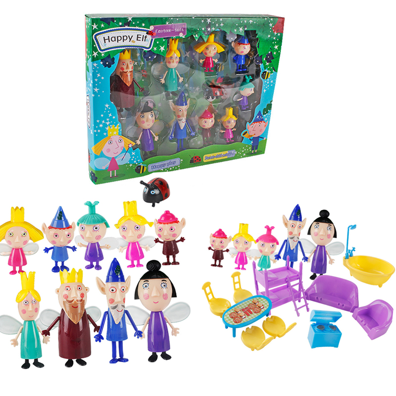 New Ben And Holly Little Kingdom Anime Figuras toys dolls Set PVC little kingdom ben holly Cartoon Figure Toys for Kids giftNew Ben And Holly Little Kingdom Anime Figuras toys dolls Set PVC little kingdom ben holly Cartoon Figure Toys for Kids gift