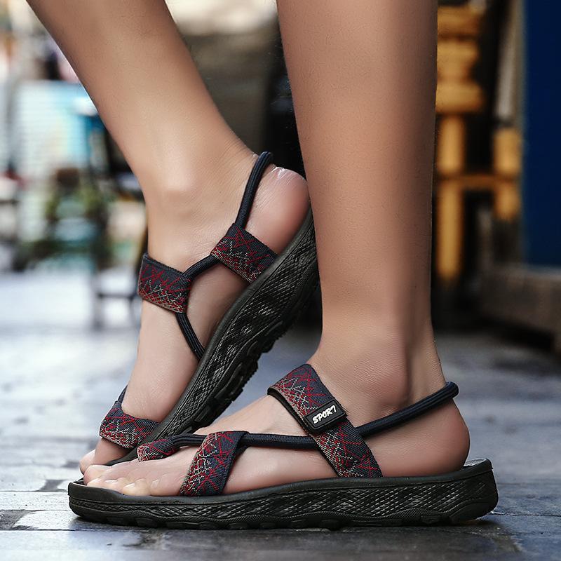 2018 Summer Gladiator Mens Beach Sandals Outdoor Shoes Roman Men Casual Shoe Flip Flops Large Size 45 Good Quality