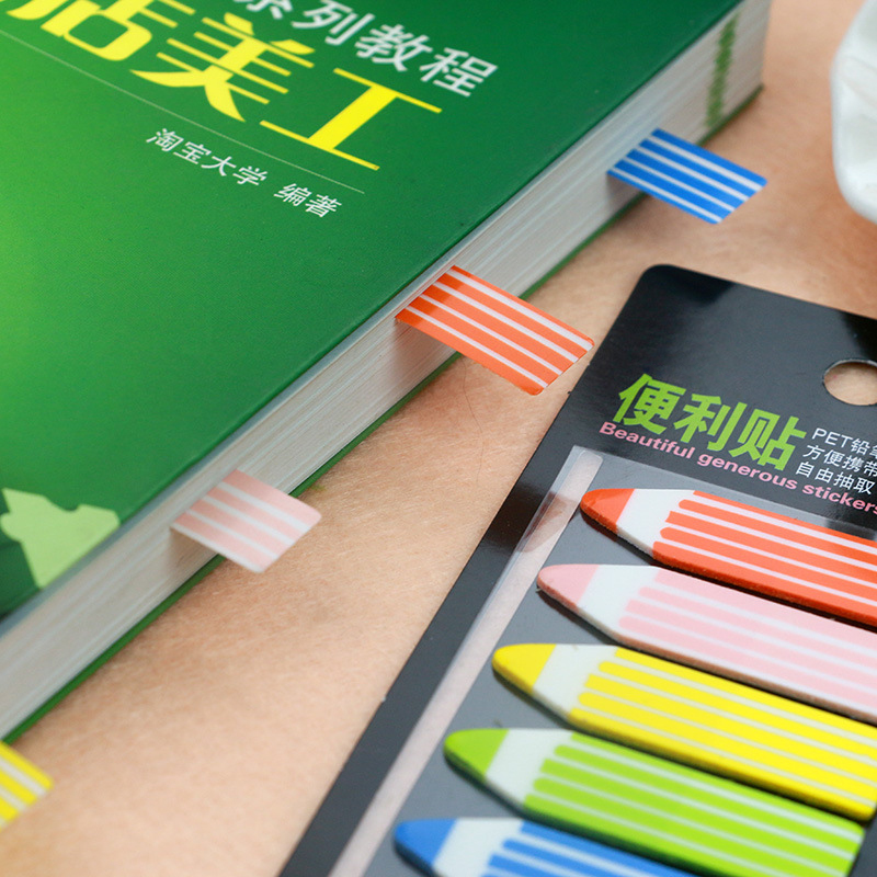 Fantastic Gradient Color pencil Self-Adhesive Memo Pad Sticky Notes Post It Bookmark School Office Supply kitmmm6445ssppap3030131 value kit post it super sticky large format notes mmm6445ssp and paper mate sharpwriter mechanical pencil pap3030131