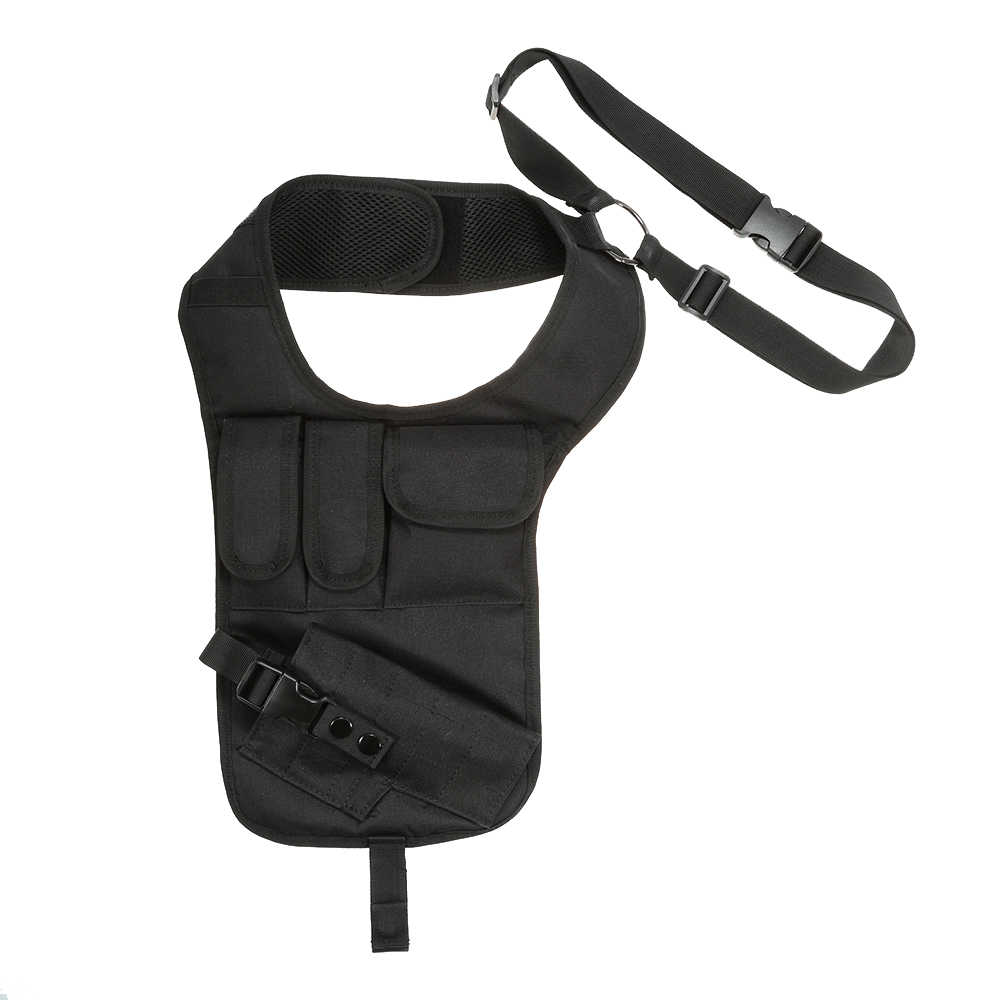 Универсальный пистолет падение ноги кобура Сумка тактический военный для охоты плечо подмышек Сумка, чехол для телефона Противоугонная сумка с ремешком черный