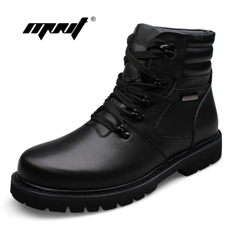 Plus Size Platform Men Winter Shoes Lace-Up Plush Fur Warm Outdoor Men Boots High Quality Keep Warm Ankle Snow Boots Shoes mvvt super warm winter men boots snow boots with fur keep warm platform men winter snow shoes waterproof ankle boots